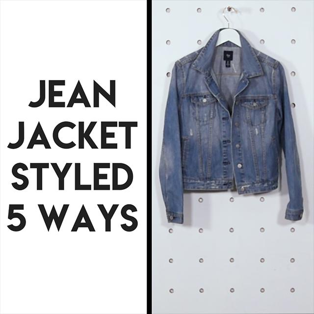 Jean jacket styled 5 ways