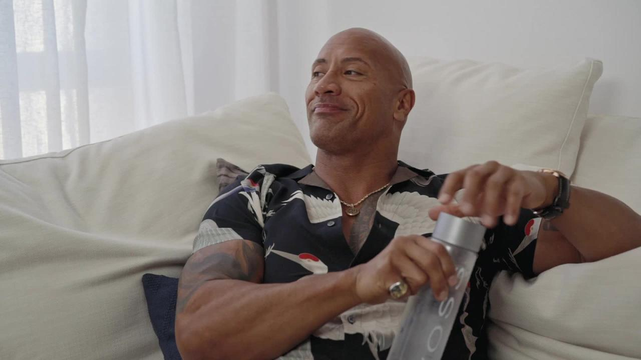 The Rock shares his secrets for success in ads for water brand Voss