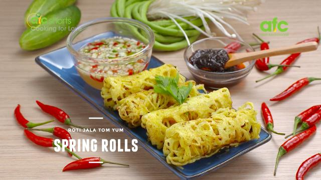 Roti jala tom yum spring rolls cooking for love s3 asian food roti jala tom yum spring rolls cooking for love s3 asian food channel test 3 food hero asia forumfinder Gallery