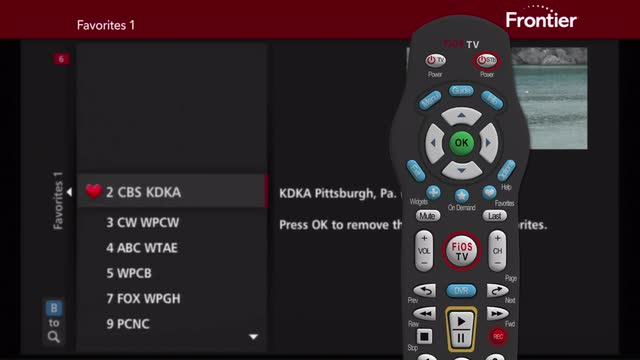 Add and Remove Favorite Channels with your FiOS Remote