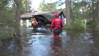 SC flooding rescue broll