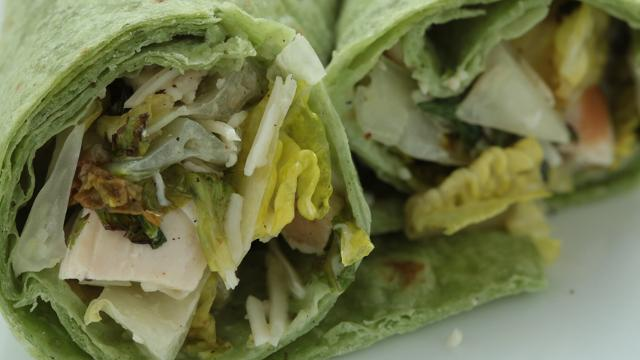 Grilled Chicken Caesar Salad Wrap Recipe Eatingwell