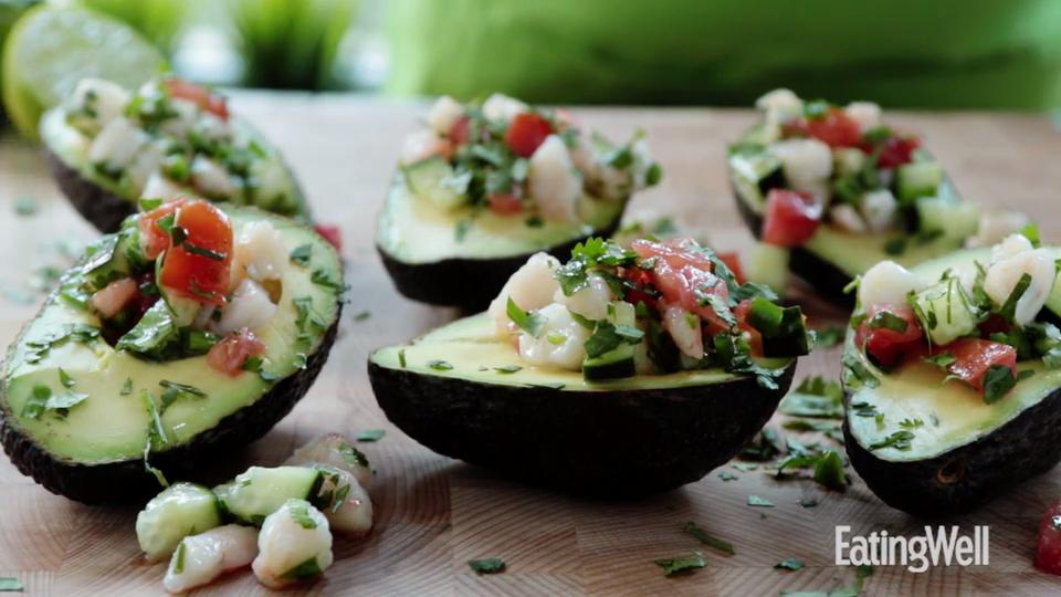 How to Make Shrimp Ceviche-Stuffed Avocados