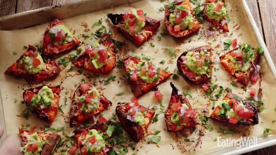 How to Make Sweet Potato Skins with Guacamole
