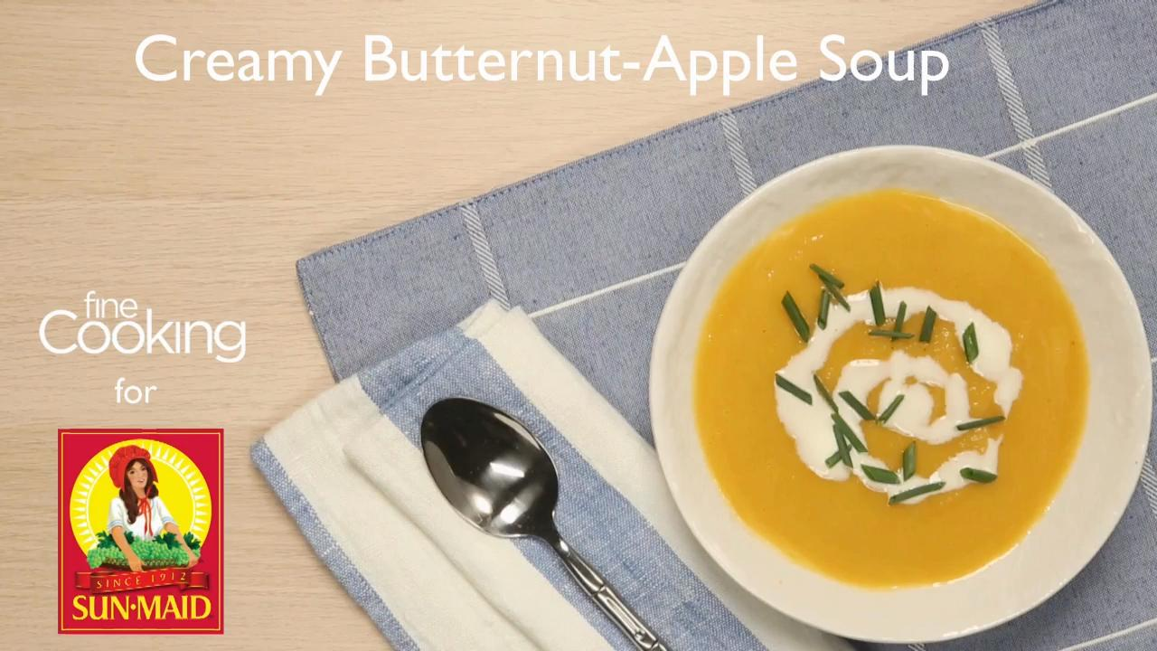 Creamy Butternut-Apple Soup