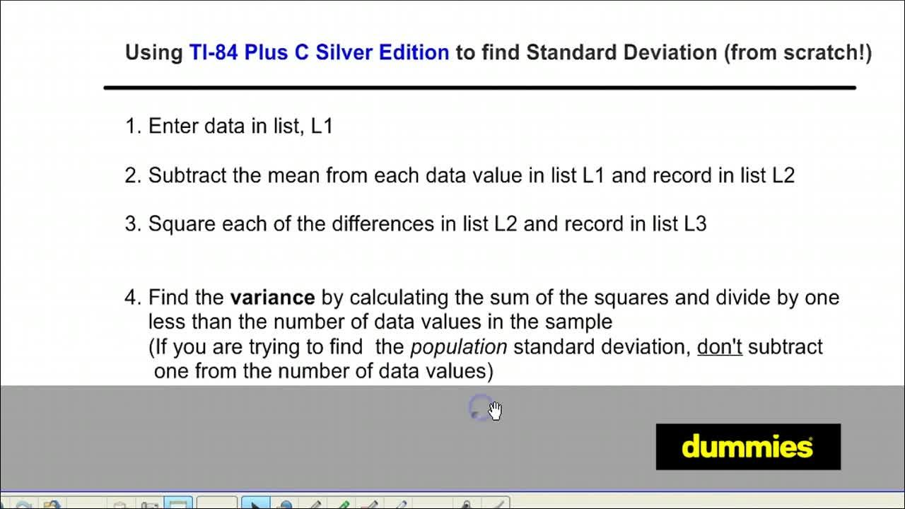 How to find the standard deviation of a data set on the ti 84 plus how to find the standard deviation of a data set on the ti 84 plus dummies ccuart Gallery