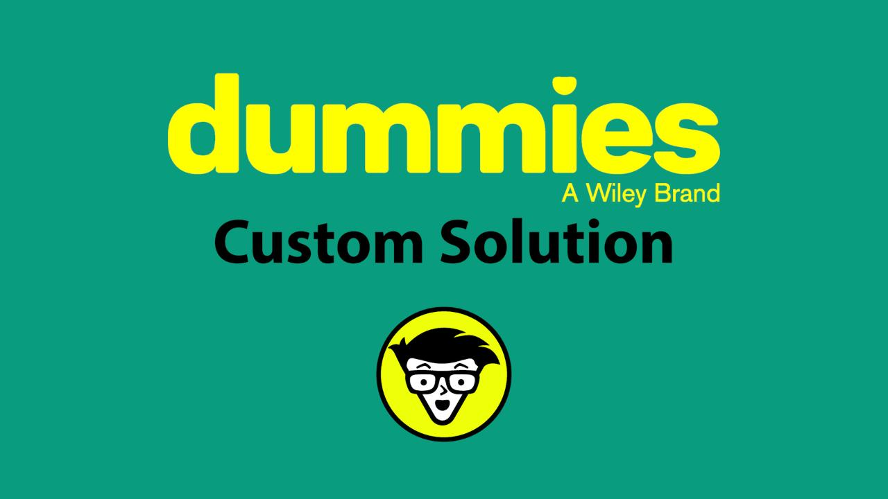 create business solutions with the for dummies brand and how to