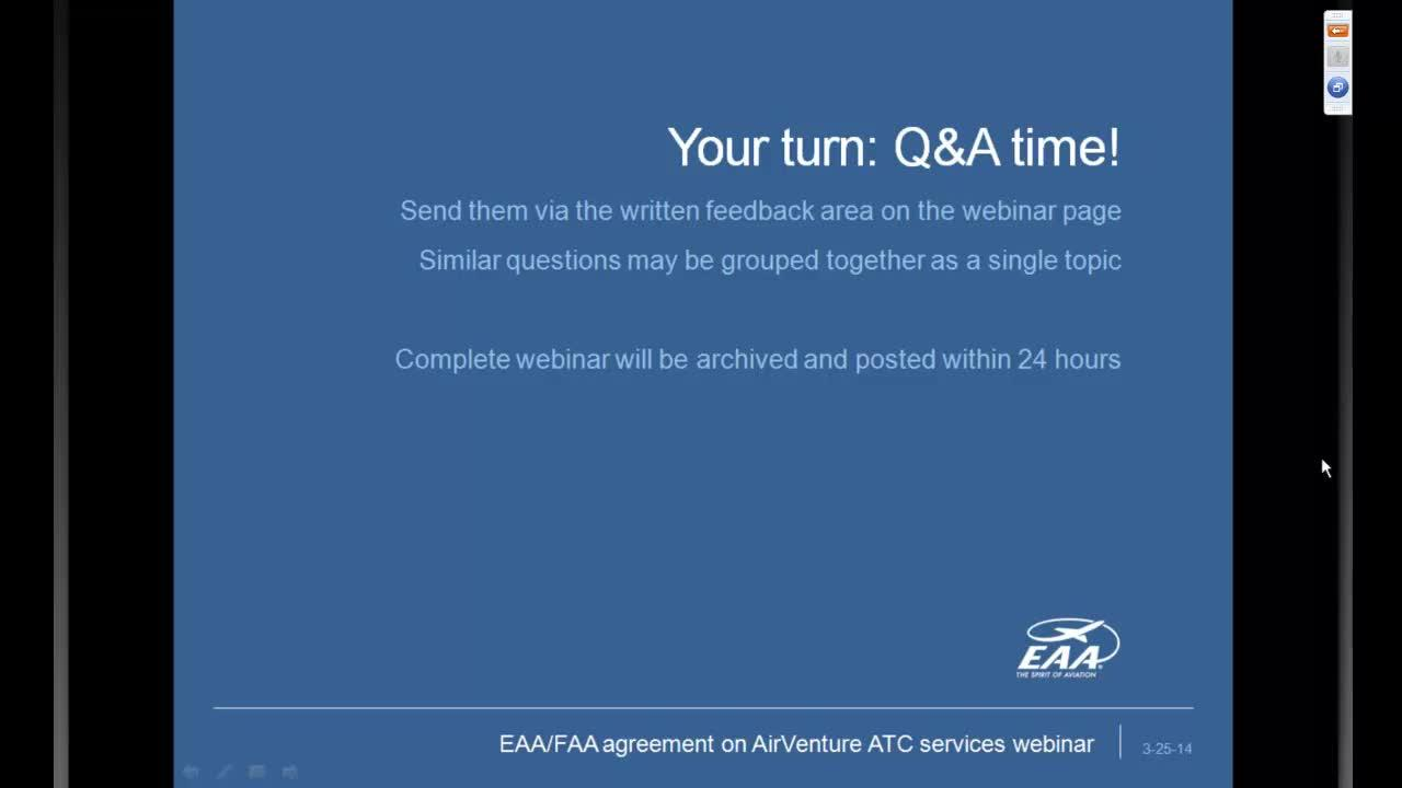 Webinar Update On Eaafaa Agreement On Airventure Atc Charges