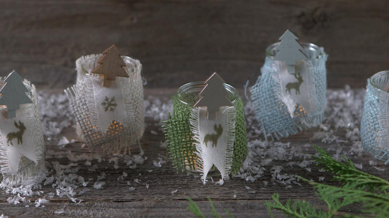 Festive Wrapped Votive DIY