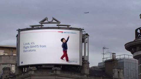 BA's Interactive, Plane-Recognizing Billboards Take the Direct Grand Prix at Cannes
