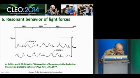 The Early Days of Laser Trapping, James P. Gordon Symposium