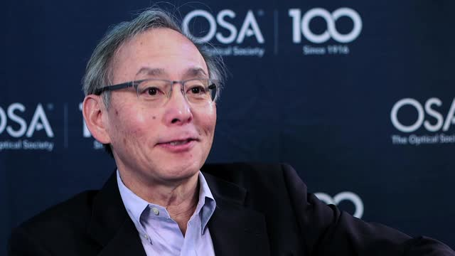Steven Chu shares his thoughts on science--OSA Stories
