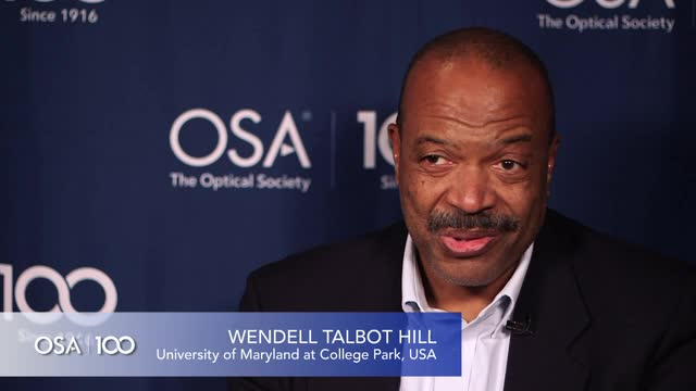 Wendell Hill shares the types of lasers he works with--OSA Stories