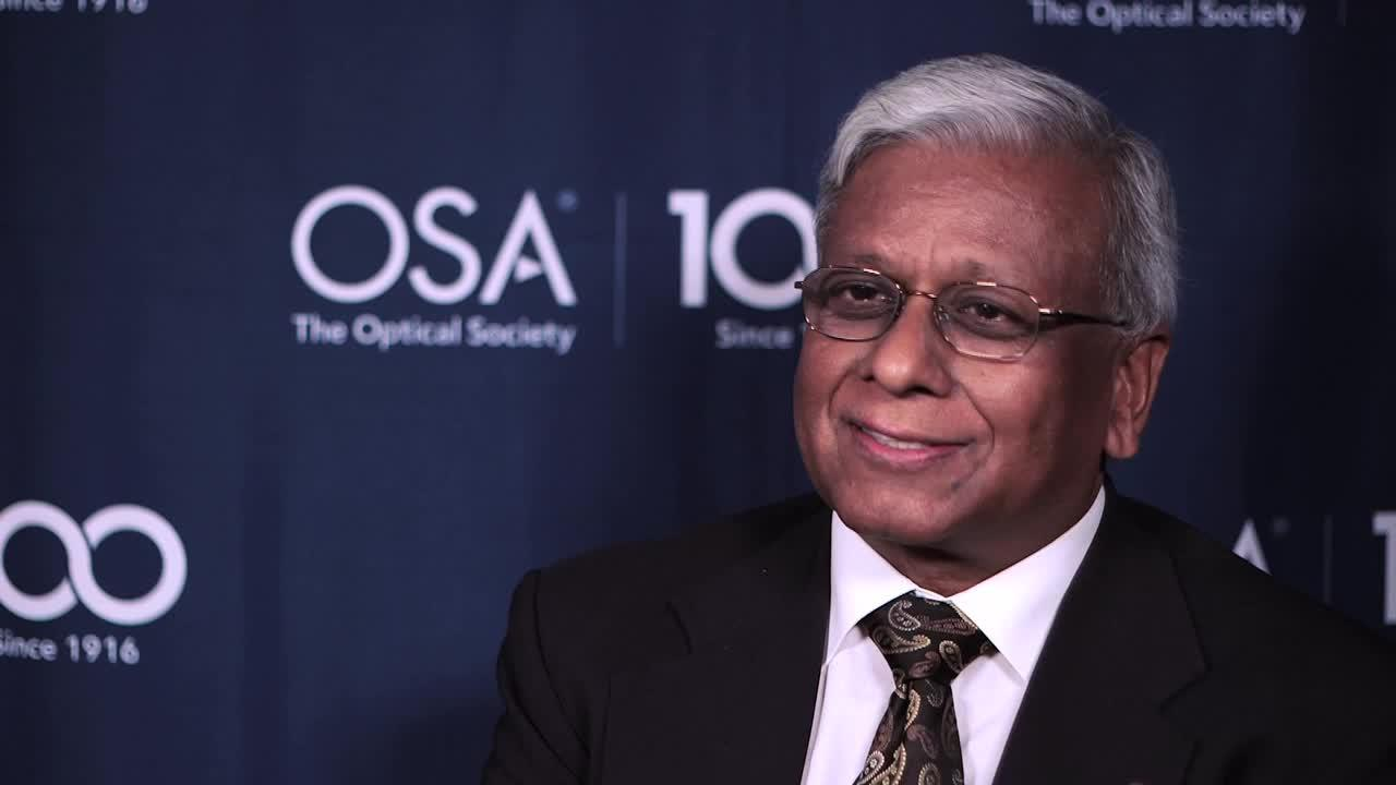 Govind Agrawal was first inspired to get into optics by a class taught by Emil Wolf--OSA Stories