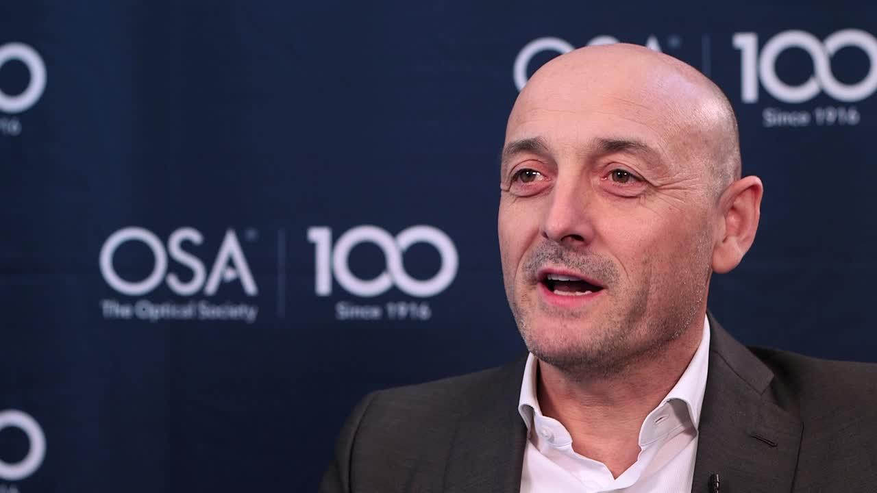Lluis Torner talks about what he is currently doing--OSA Stories