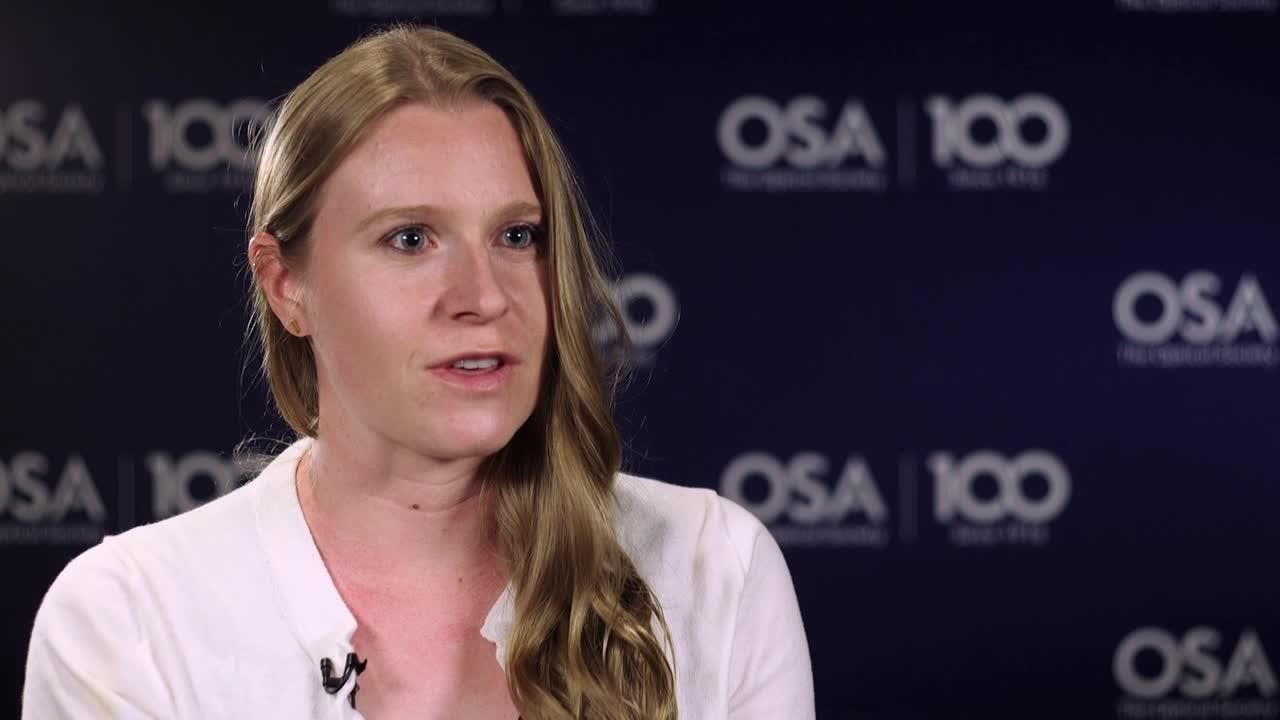 Laura Coyle  talks about the exciting work she is doing--OSA Stories