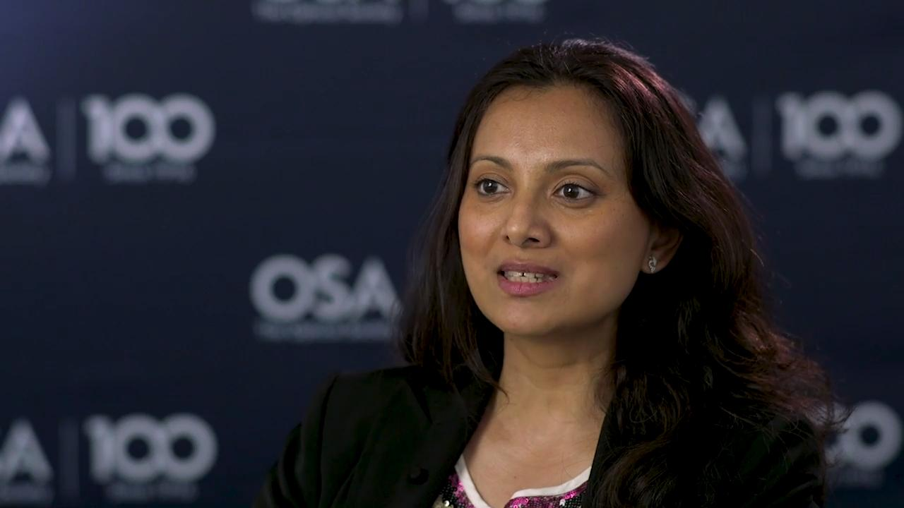 Seemantini Nadkarni discusses how she sees optics playing a big part in the future of medicine--OSA Stories