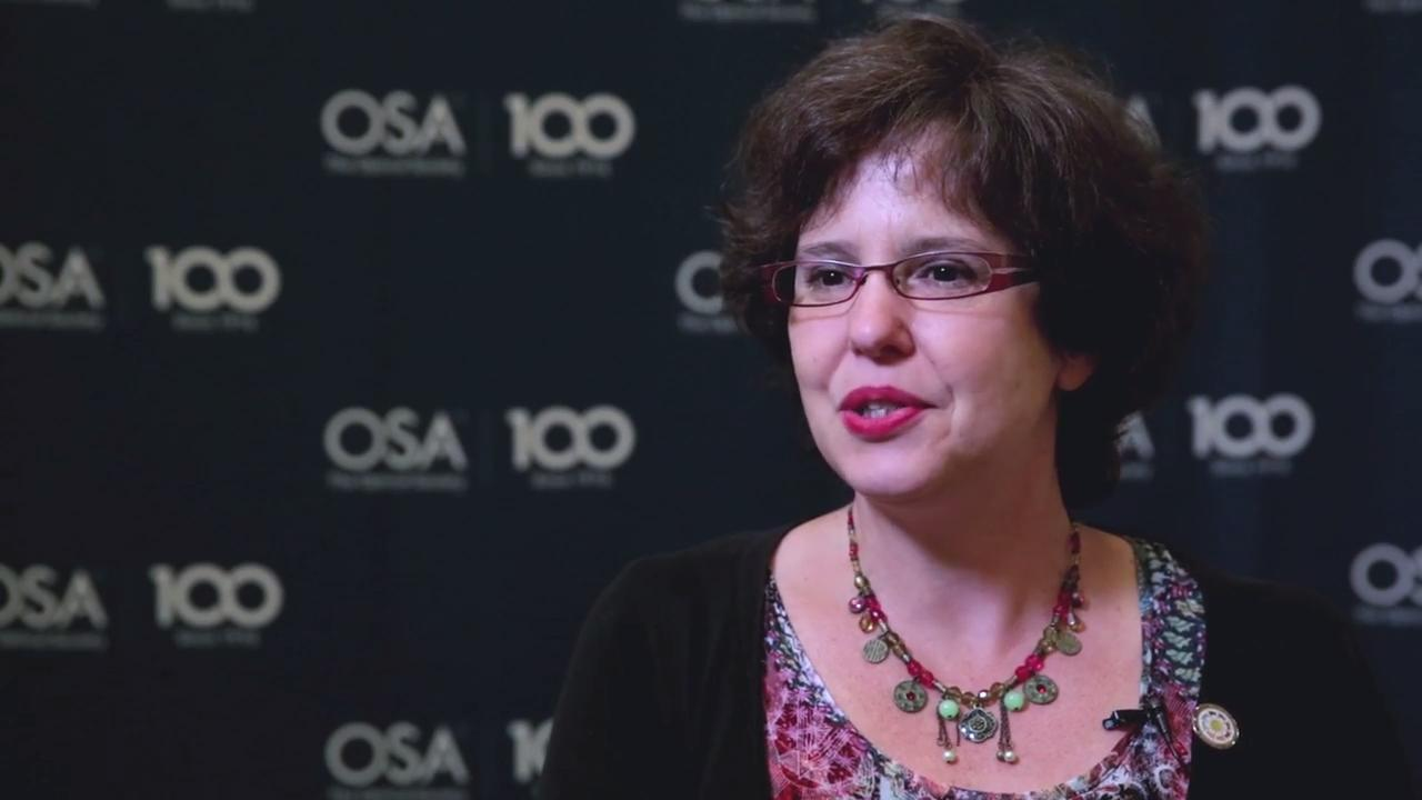 Caroline Kulcsar discusses work on optical benches--OSA Stories