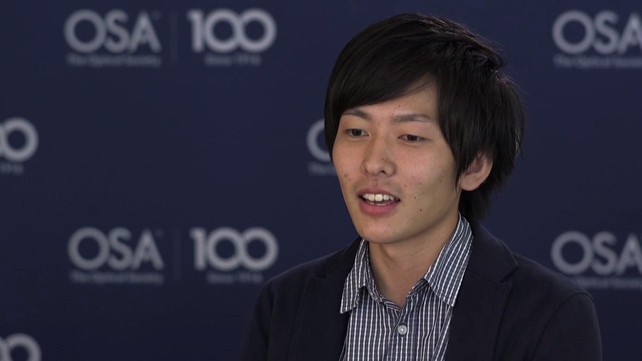 Kota Kumagai shares what motivates him to continue with his research--OSA Stories