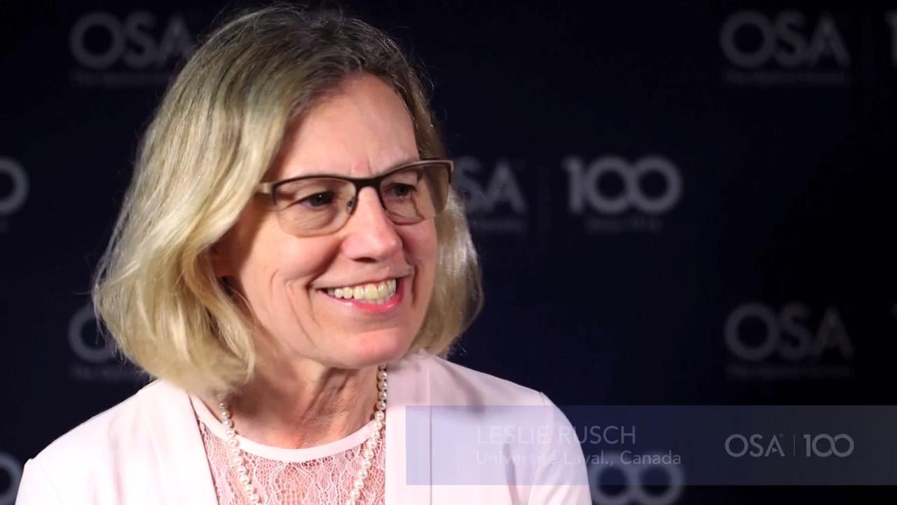 Leslie Rusch talks the importance of getting more women into the field--OSA Stories