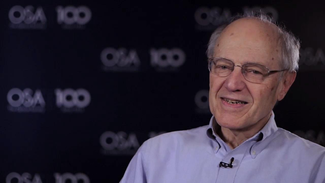 Joe Eberly shares the story of how he ended up studying optics--OSA Stories