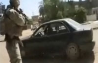 Insurgent Gets Shot in Ramadi