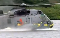 Prince William Does Helo Water Landing