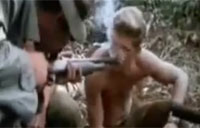 Soldiers in 'Nam Smoke a Shotgun