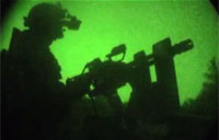 Tip of the Spear: Minigun Lights Up the Night!