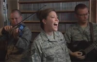 Sidewinder Air Force Band Lifts Spirits
