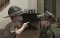 World's Smallest USMC Drill Instructor