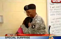 Girl Overwhelmed by Father's Return