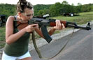 Girl Shoots an AK for the First Time