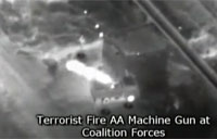 Air Strike on Taliban Machine Gunners