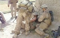 US Marine Wounded in Sangin Firefight