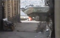Free Syrian Army IED vs. BMP