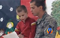 Airman Surprises Son at School Play