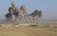 8000lb JDAM Slams Taliban Fighters