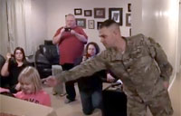 Soldier Gives Daughters Late Gift