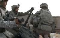 US Soldiers in Rooftop Firefight