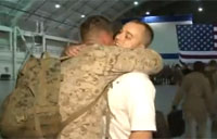 Wounded Marine Welcomes Team Home