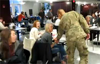 Soldier Surprises His Fiance On Campus