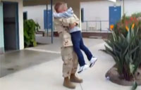 Soldier Dad Surprises Son at School