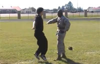 Chubby Kid vs. USMC Drill Instructor
