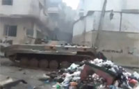 Free Syrian Army Battles in Garbage Piles