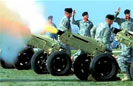 Cannon Salute in Memory of General