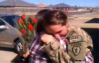 Soldier Surprises Her Mom Good...