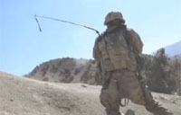 Soldier Almost Shot in the Head in Khowst