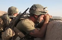 Recon Marine Sniper Spotter in Afghanistan
