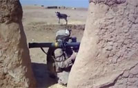 Soldier Fires SMAW in Firefight